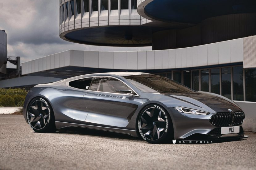 Rendering Bmw 8 Series Reimagined As Mid Engine V12 Supercar