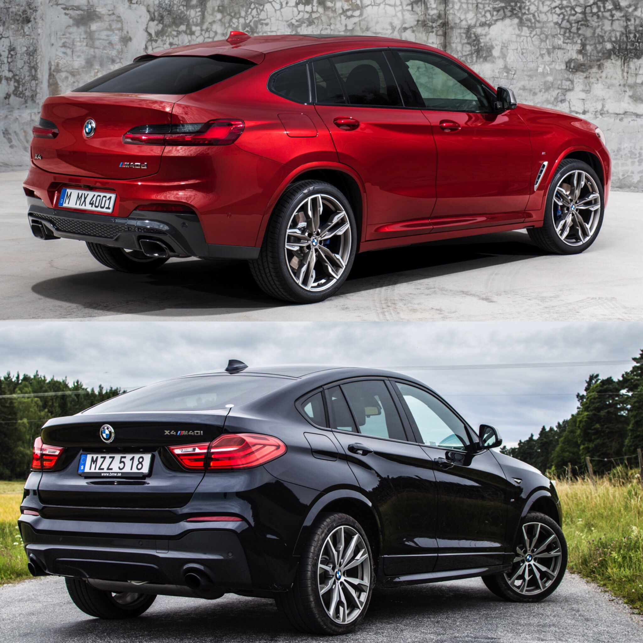 photo comparison f26 bmw x4 vs g02 bmw x4 old vs new. Black Bedroom Furniture Sets. Home Design Ideas