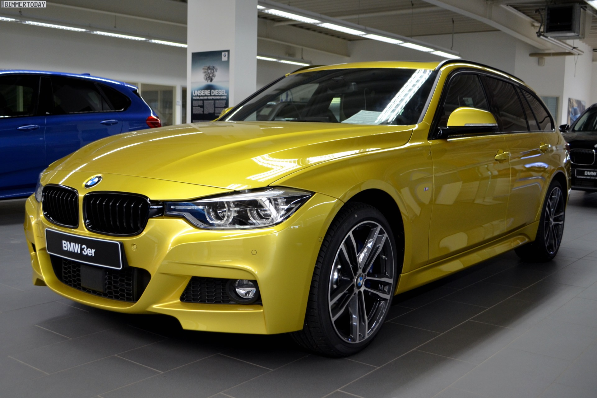 Bmw 340i Touring In Austin Yellow From Bmw Individual