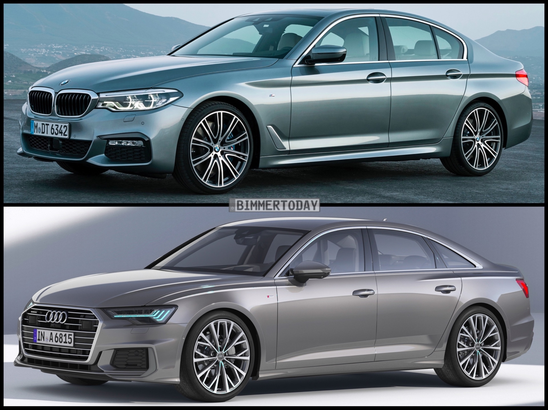 Image Comparison New Audi A6 Vs Bmw G30 5 Series
