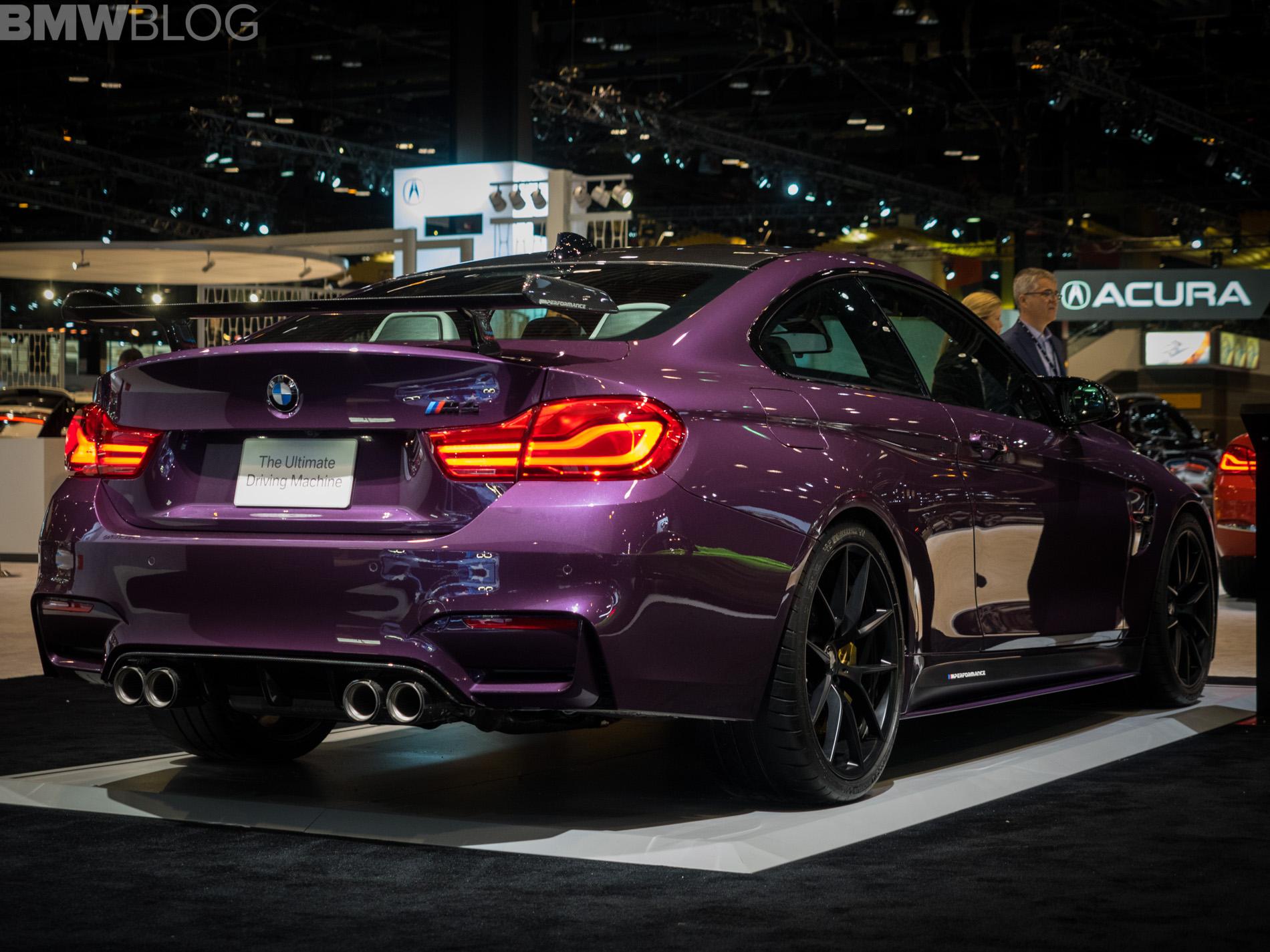 2018 Chicago Auto Show Bmw M4 In Purple Silk With M