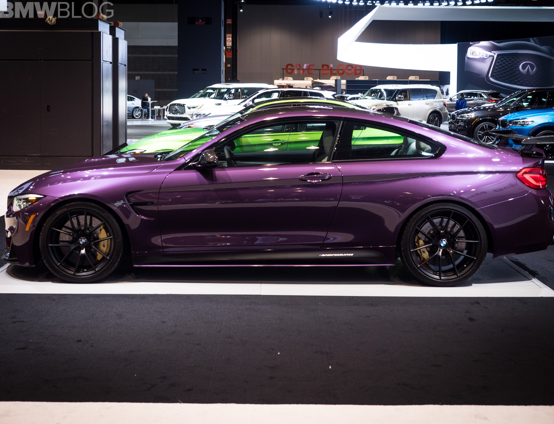2018 Chicago Auto Show Bmw M4 In Purple Silk With M