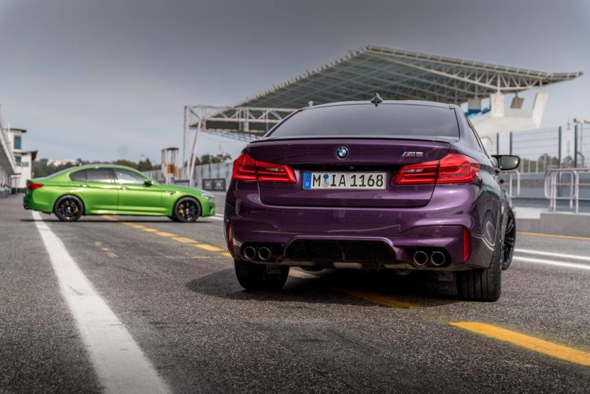 BMW M5 F90 Individual Purple Silk Java green 830x554
