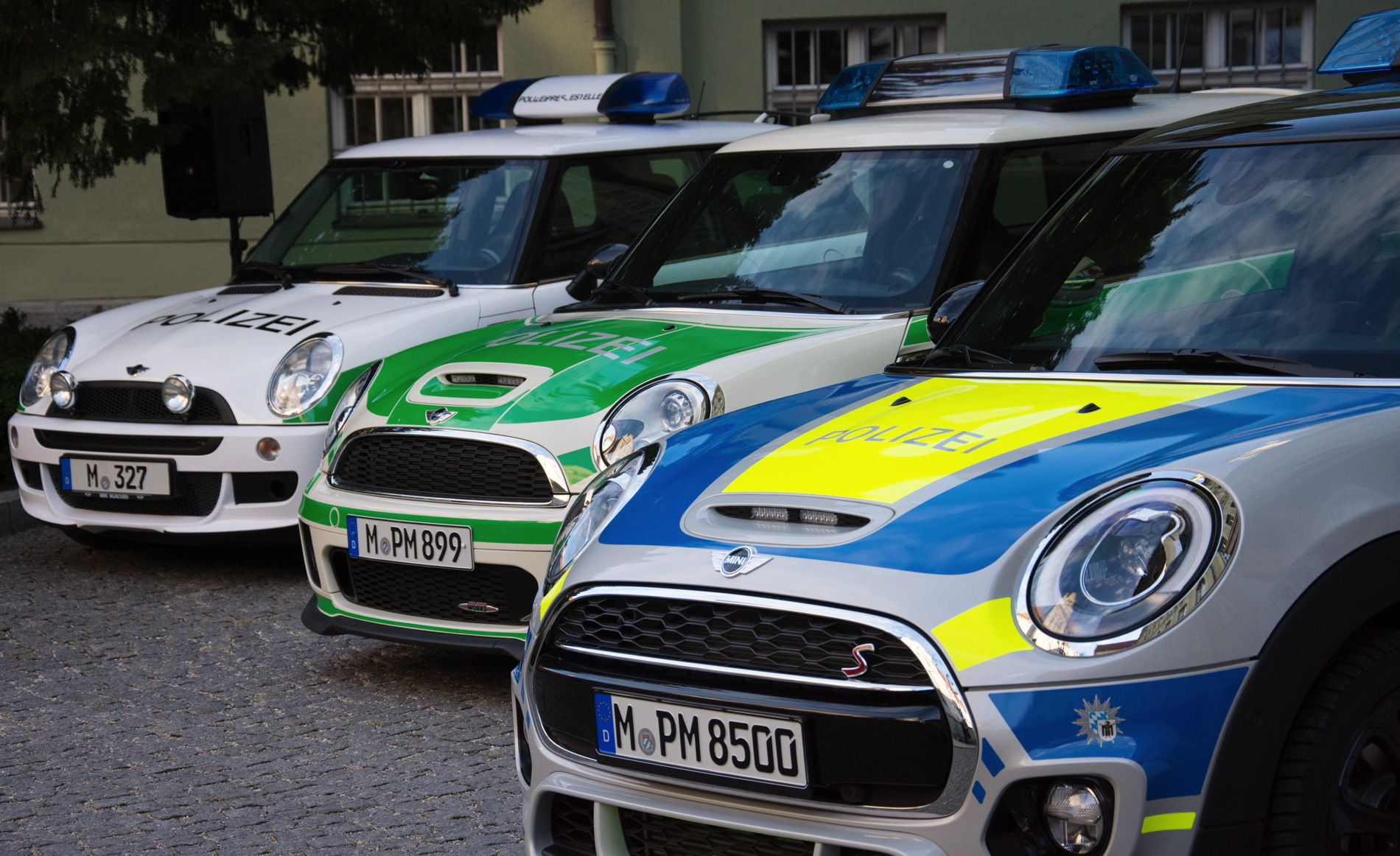 Munich Police Mini F56 Cooper S Supplements Small Car Fleet