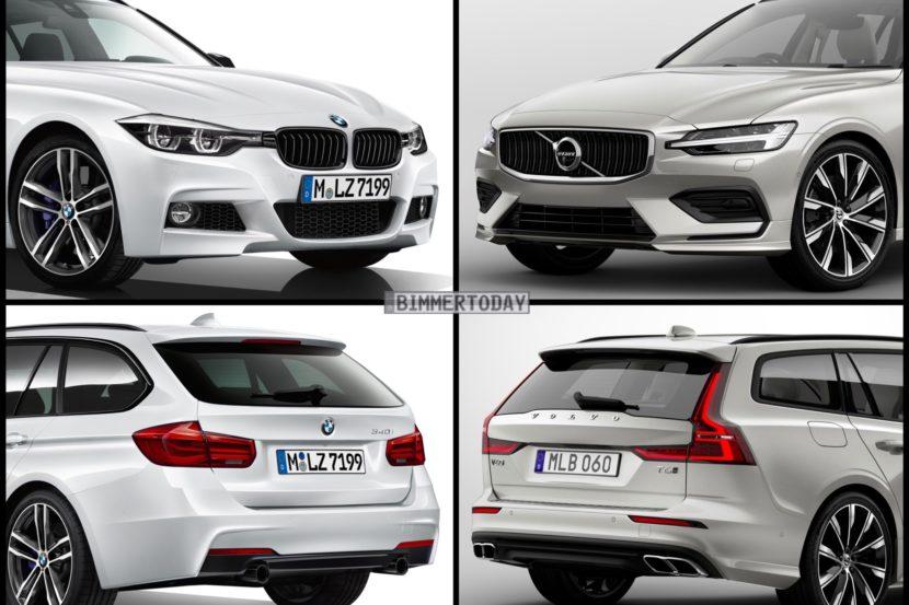 Bild Vergleich BMW 3er F31 Touring Volvo V60 T6 2018 01 830x553