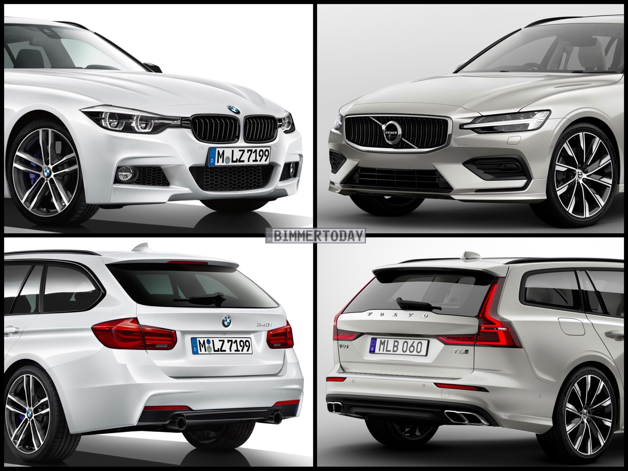 Bild Vergleich BMW 3er F31 Touring Volvo V60 T6 2018 01