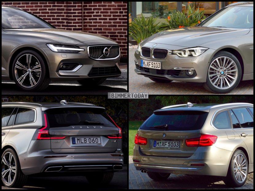 Bild Vergleich BMW 3er F31 Touring Volvo V60 T6 2018 02 830x622