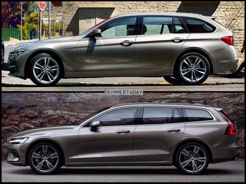 Bild Vergleich BMW 3er F31 Touring Volvo V60 T6 2018 03 830x622