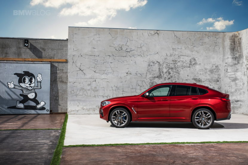 New 2018 BMW X4 M40d exterior design 34 830x553