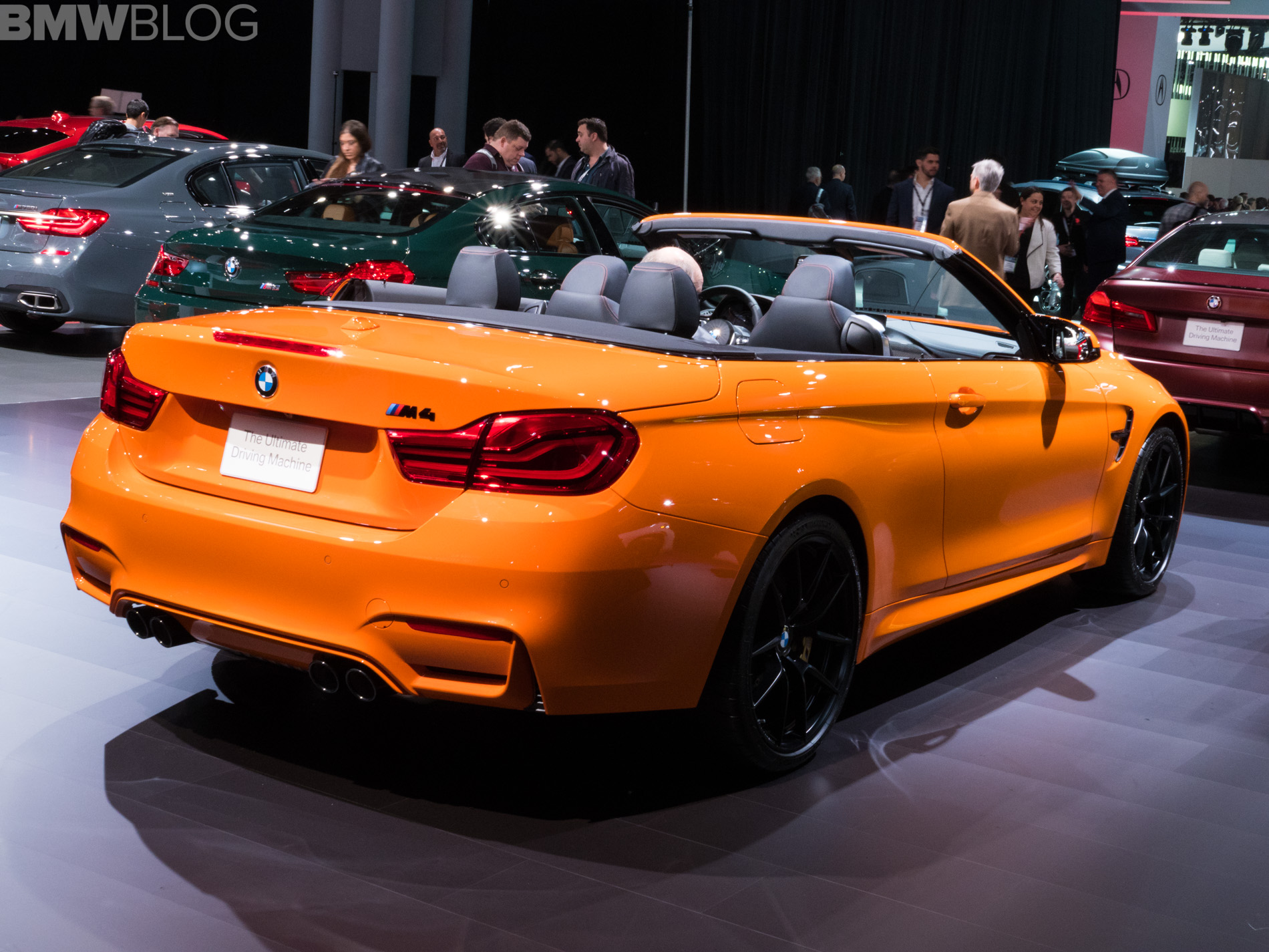 2018 Nyias Bmw M4 Convertible In Fire Orange