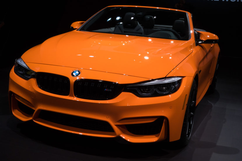 2018 BMW M4 Fire Orange New York Auto Show 6 830x553