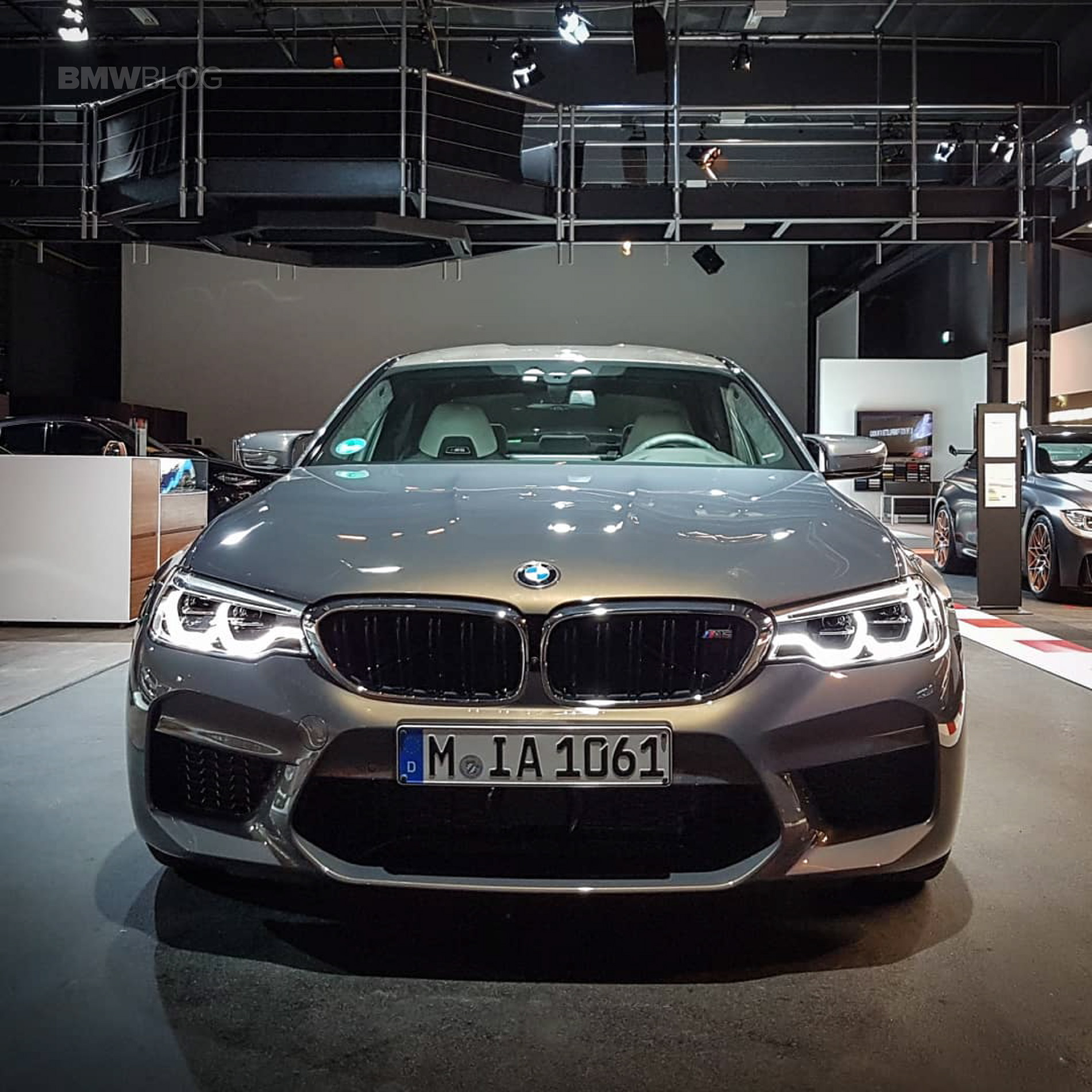 Bmw M5: The New BMW M5 In Champagne Quartz Goes Into The Alps