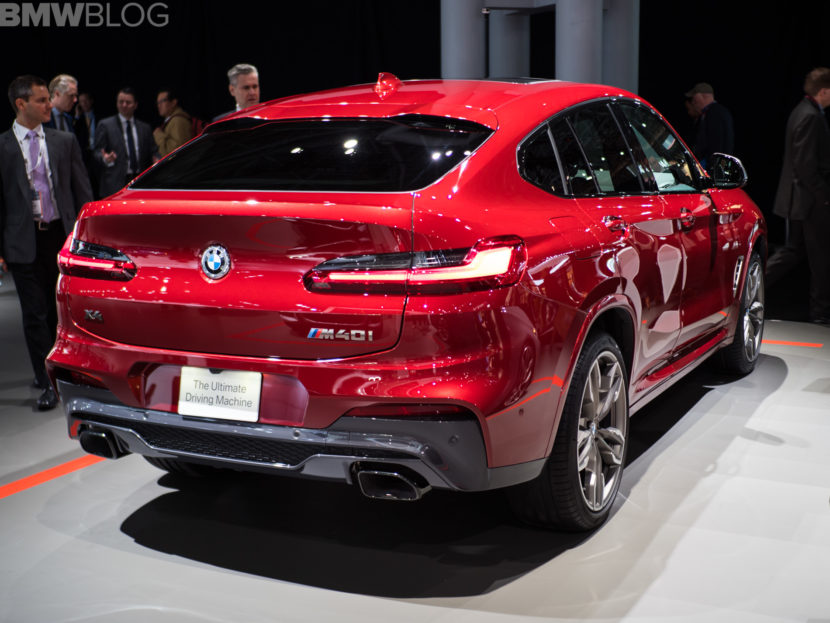 2018 BMW X4 New York Auto Show 12 830x623