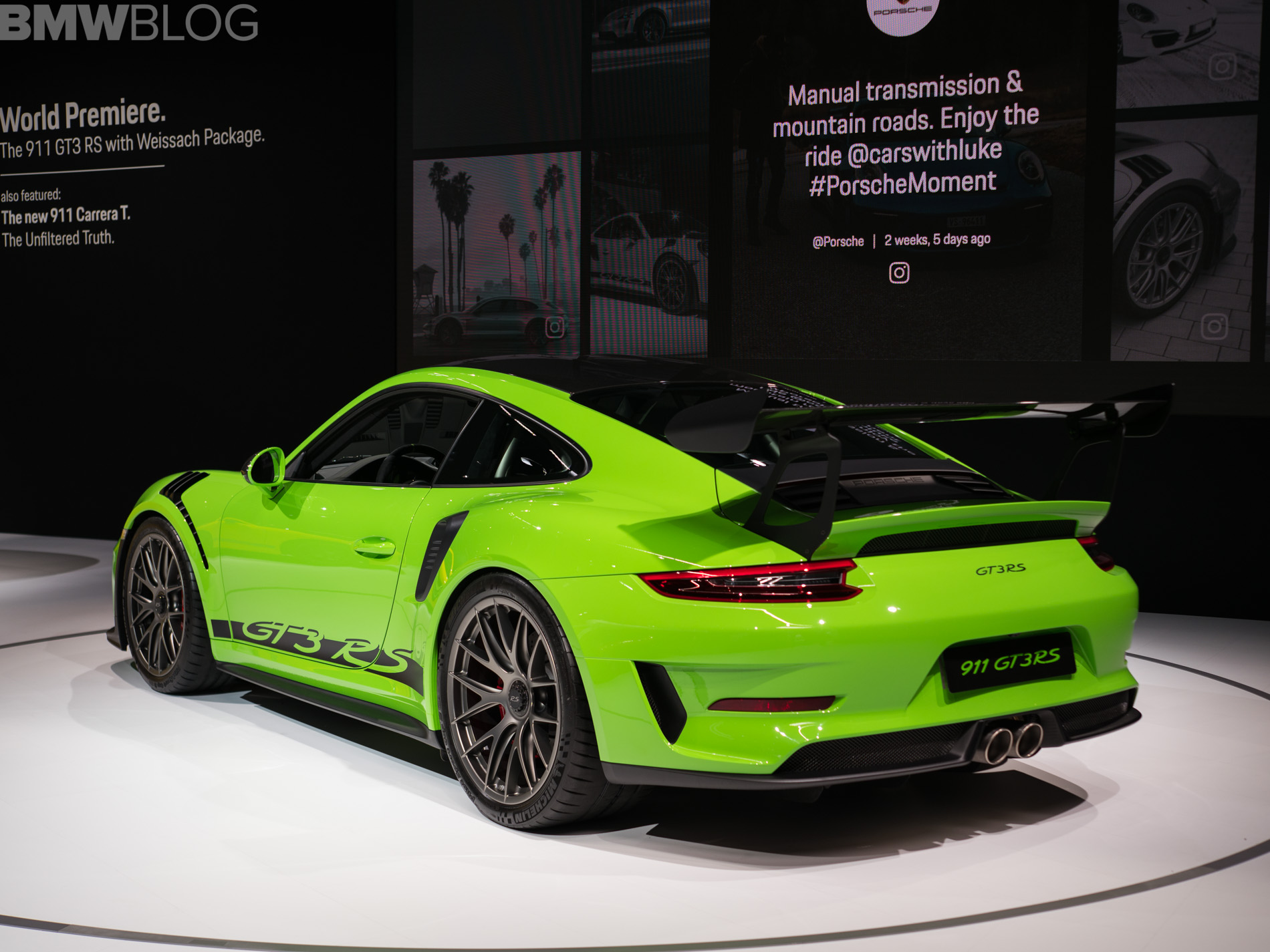 2018 Porsche 911 Gt3 >> 2018 NYIAS: Porsche 911 GT3 RS