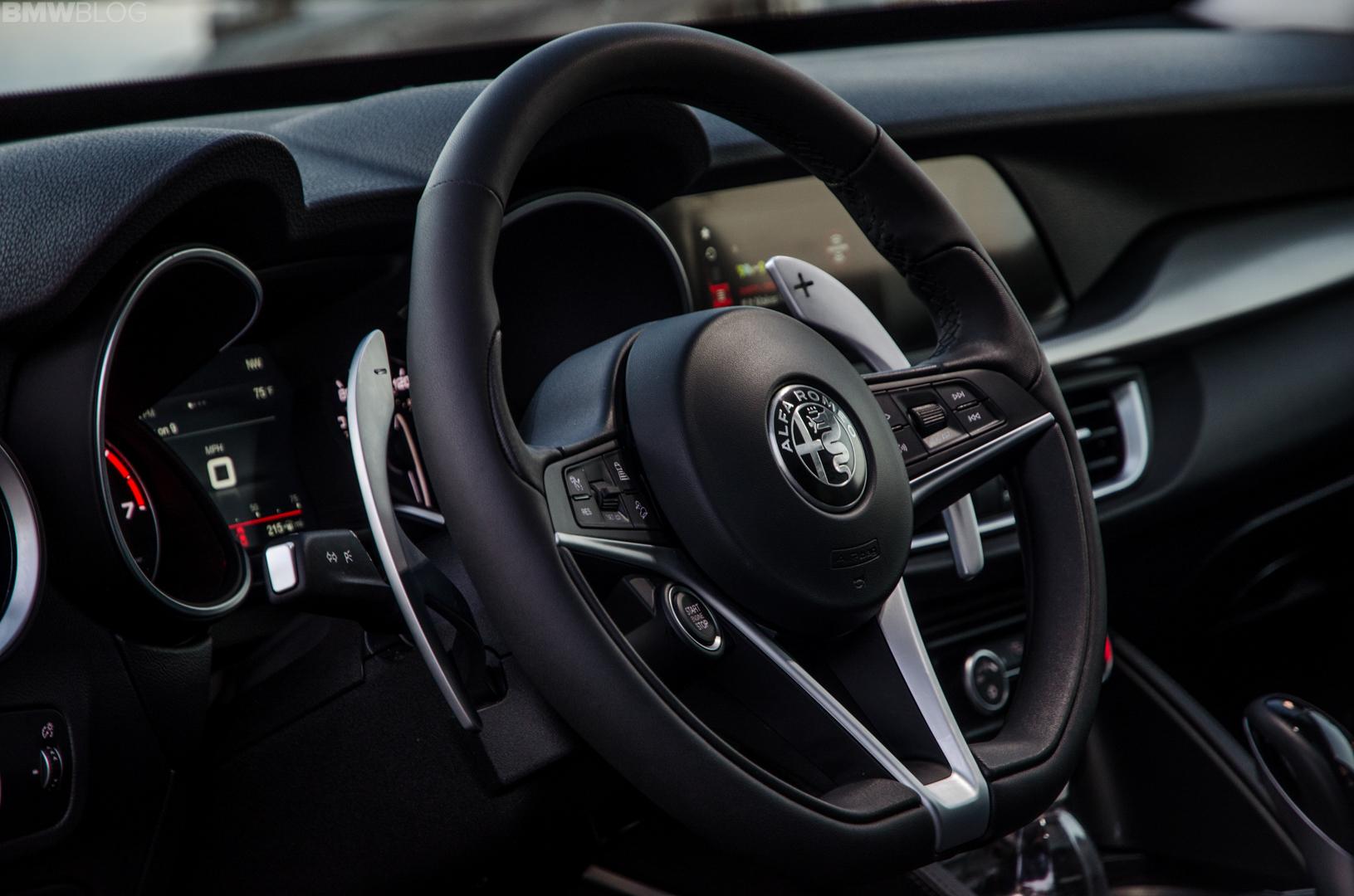 Alfa Romeo Stelvio Steering Wheel >> First Drive Alfa Romeo Stelvio The Leaning Tower Of Alfa Romeo