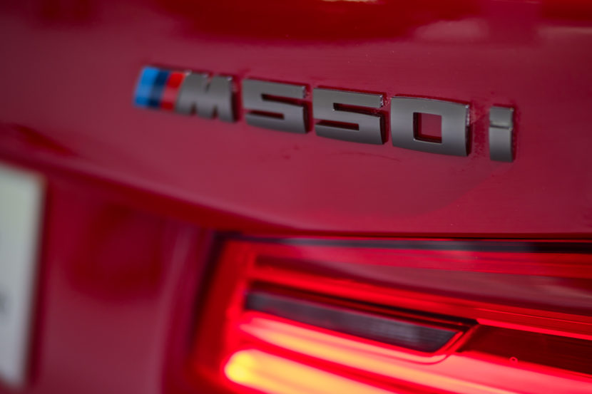 BMW M550i Ferrari Red 5 830x553