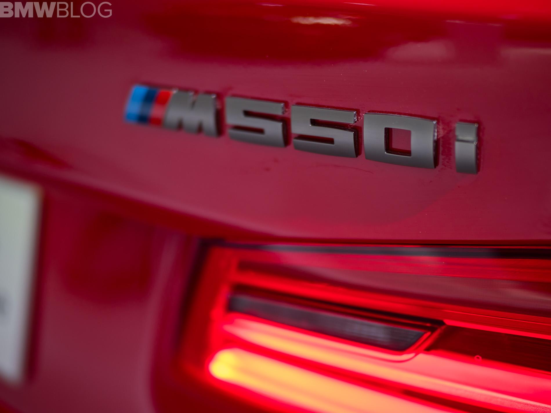 BMW M550i Ferrari Red 5