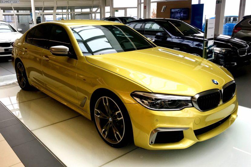 BMW M550i xDrive G30 Austin Yellow Individual 02 830x554