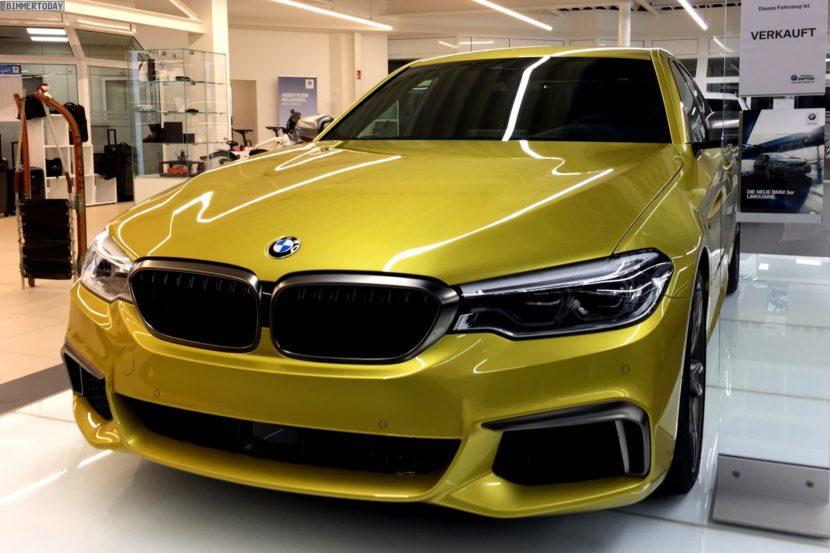 BMW M550i xDrive G30 Austin Yellow Individual 07 830x553