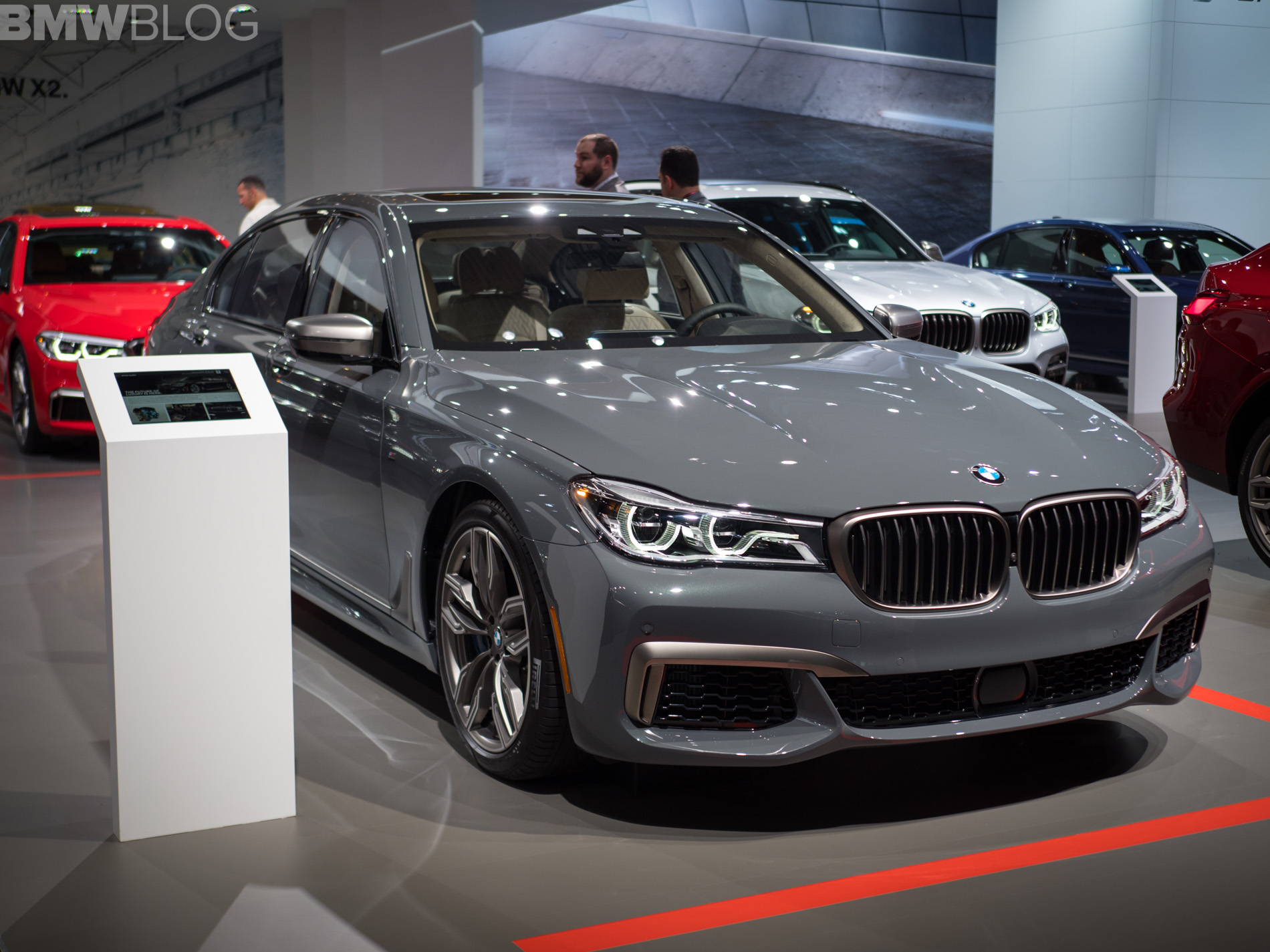 2018 NYIAS: Grigio Telesto is featured on this BMW M760Li