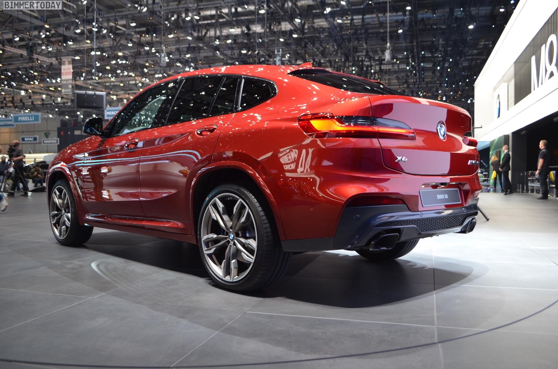 2018 Geneva Motor Show New Bmw X4 In Flamenco Red