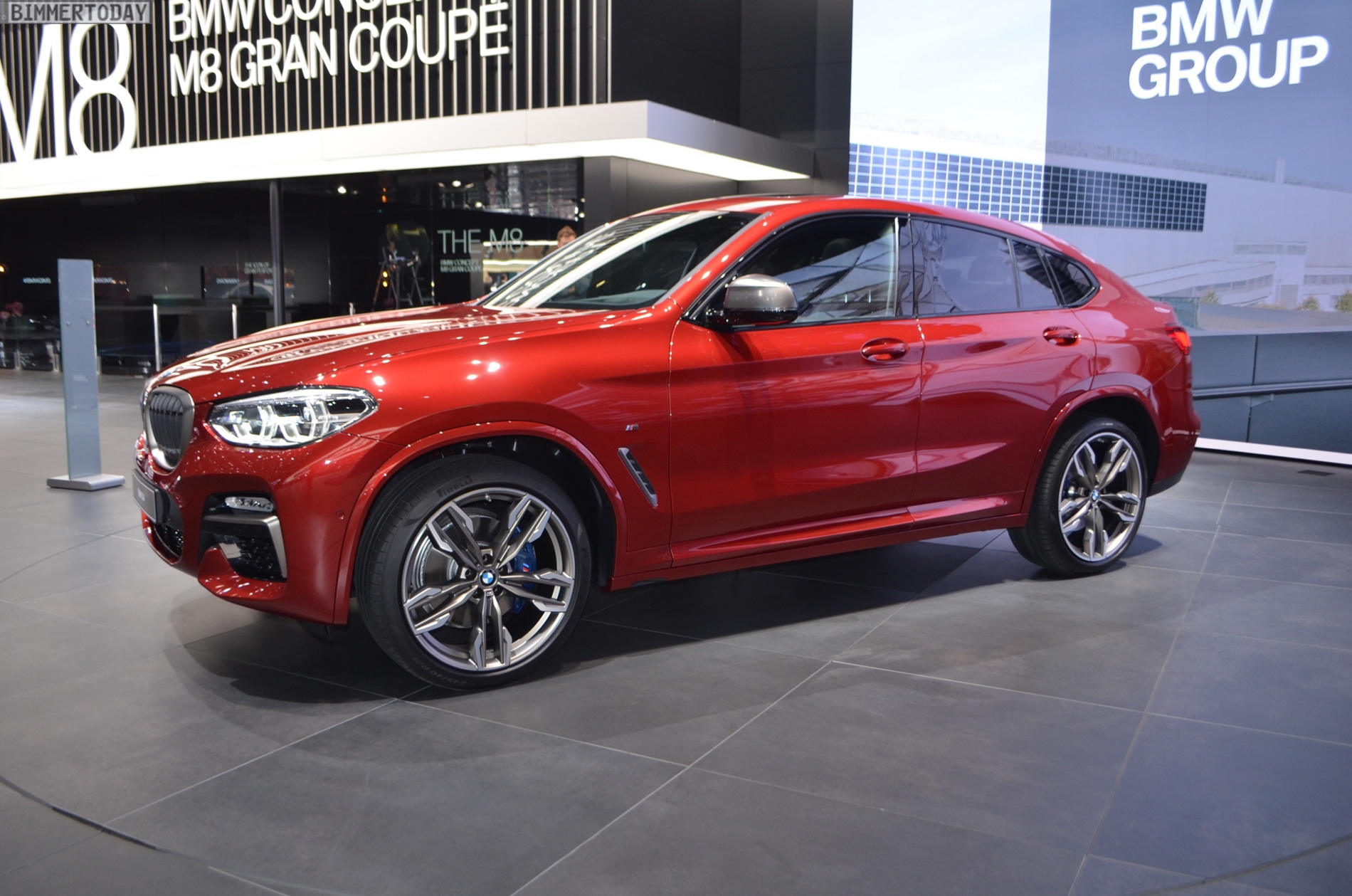 2018 Geneva Motor Show New Bmw X4 In Flamenco Red