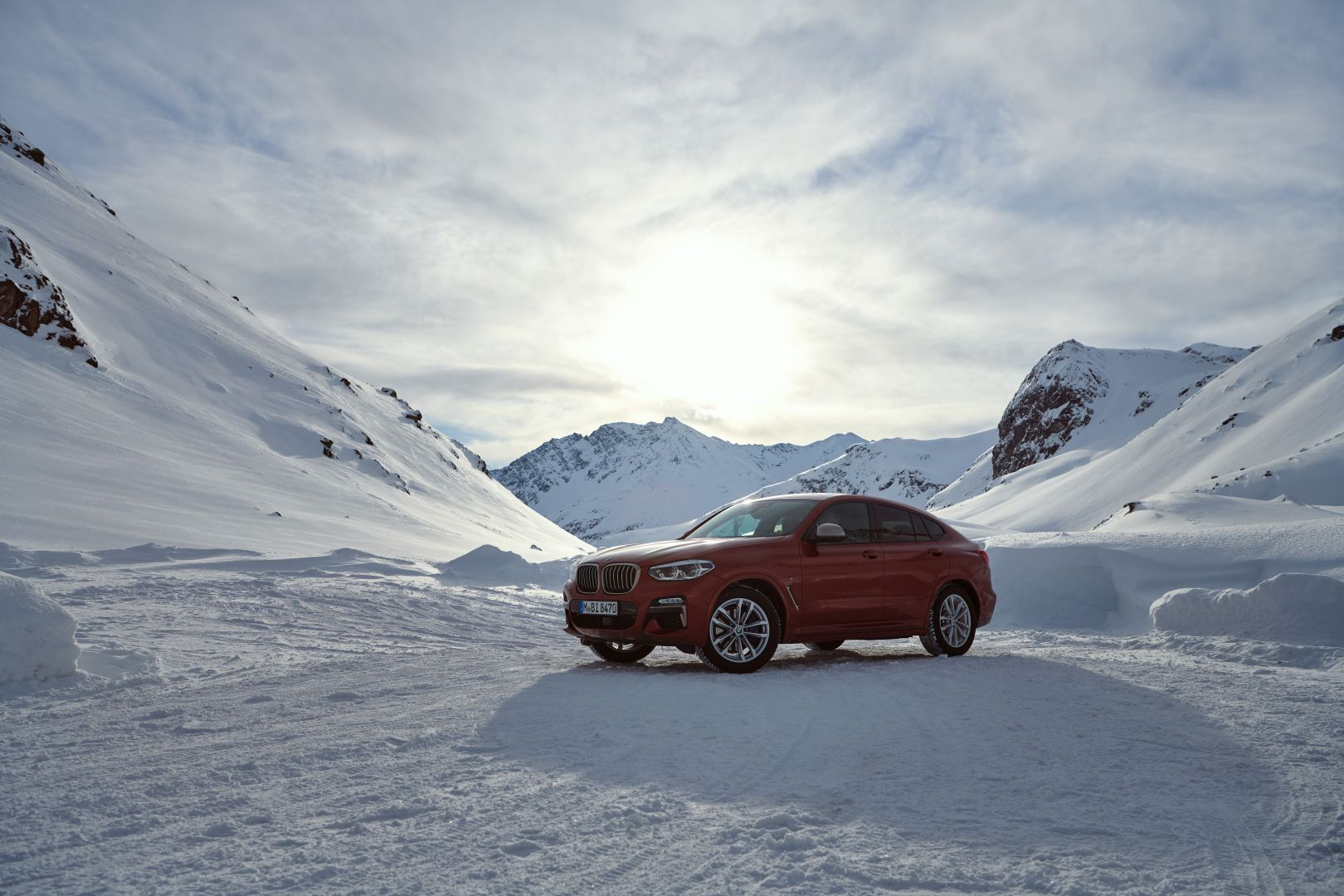 The New BMW X4 Is Getting Driven to Geneva across Swiss Alps