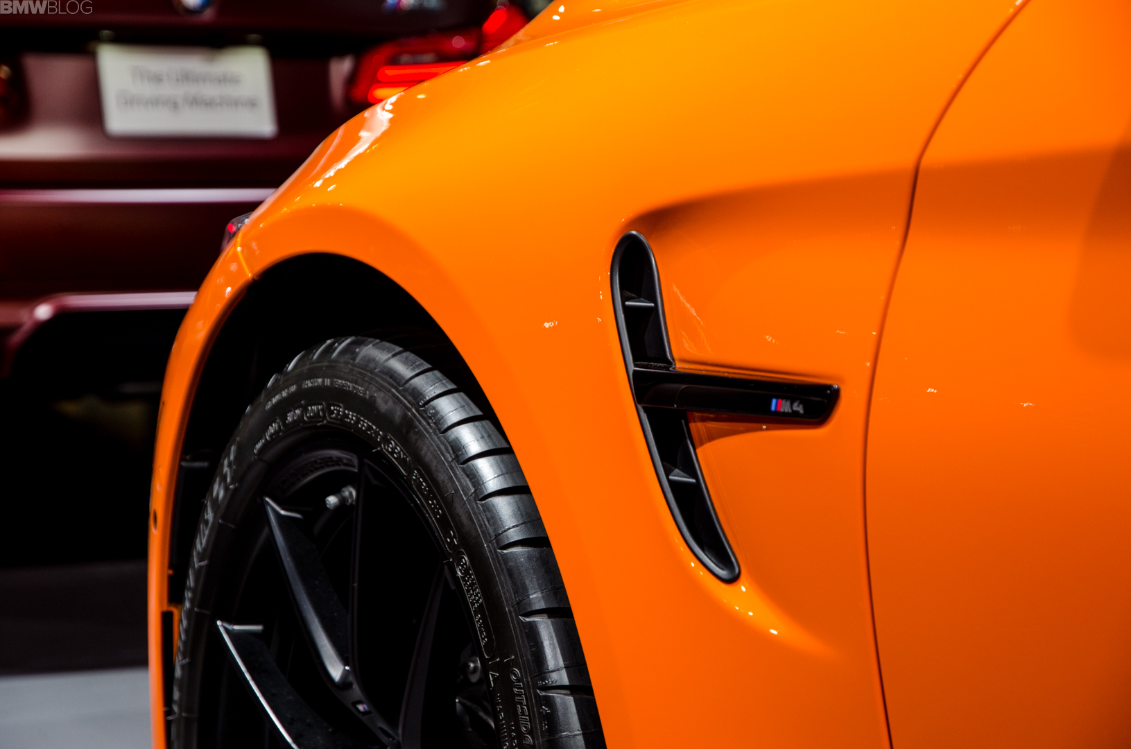 Fire Orange BMW M4 Convertible 3