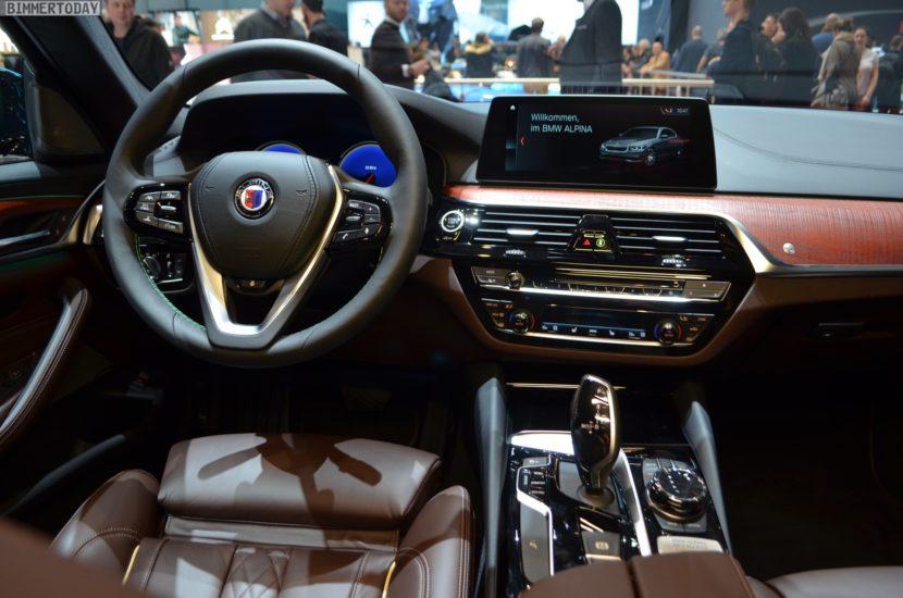 Genf 2018 Alpina D5 S BMW 5er G30 Interieur Live 02 830x550