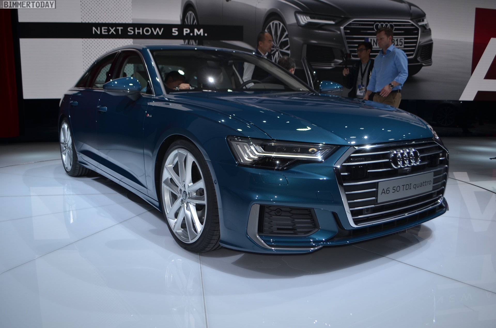 2018 geneva motor show live photos of the new audi a6. Black Bedroom Furniture Sets. Home Design Ideas