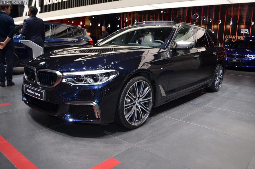 Genf 2018 BMW 5er G31 Touring M550d Azuritschwarz Live 01 830x550