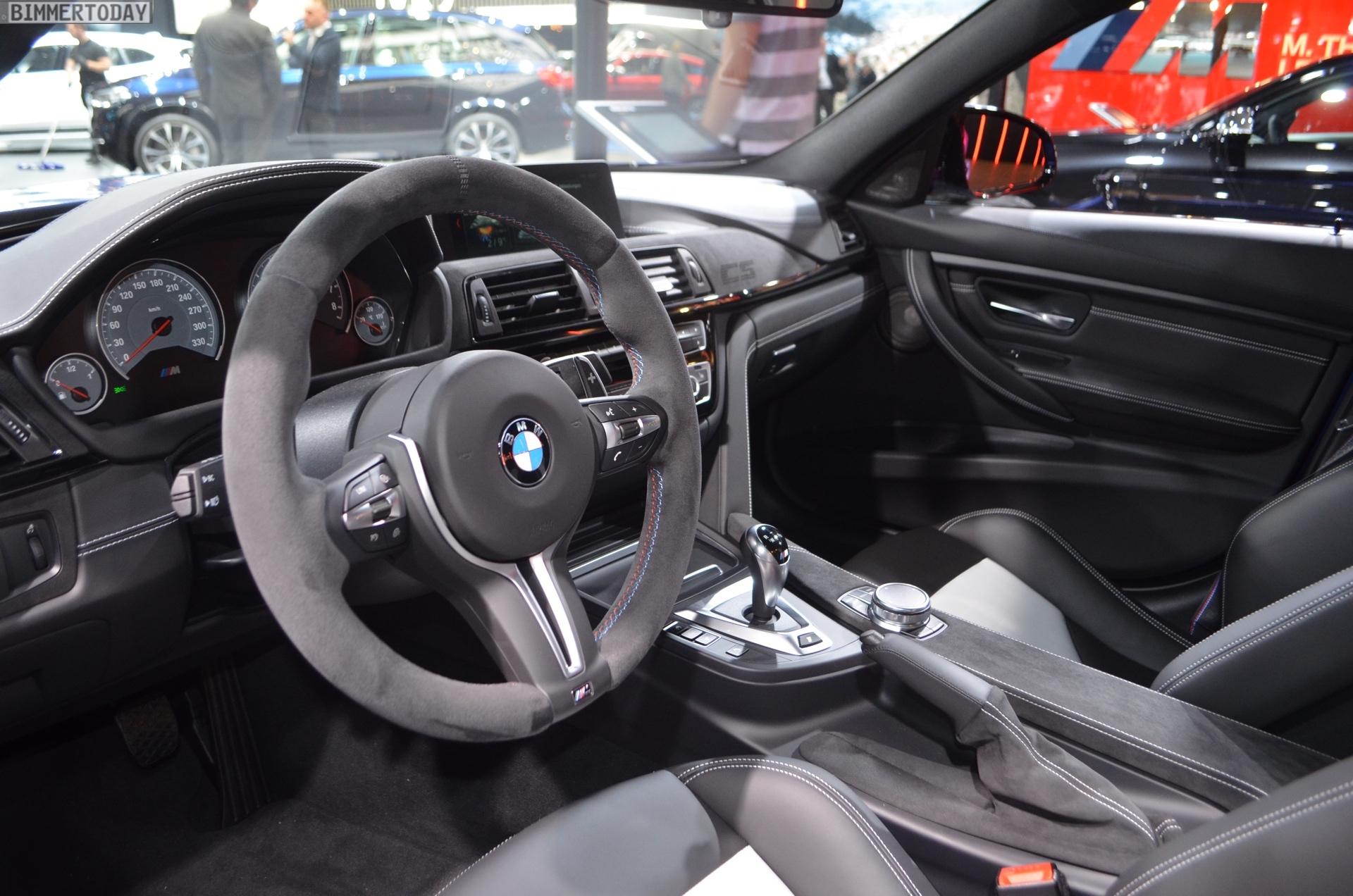 Genf 2018 BMW M3 CS F80 Frozen Dark Blue Interieur Live 01