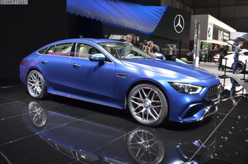 Genf 2018 Mercedes AMG GT 4 Tuerer Coupe X290 Live 01 830x550
