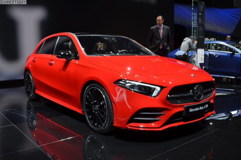 Geneva Live Photos Show New Mercedes AClass W - Mercedes car show 2018