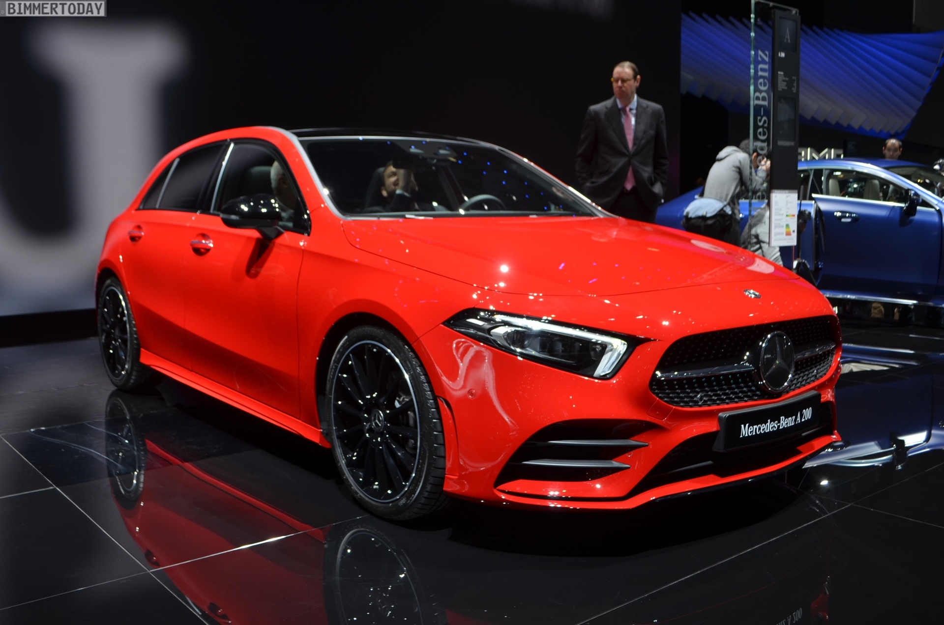 2018 geneva live photos show new mercedes a class w177. Black Bedroom Furniture Sets. Home Design Ideas
