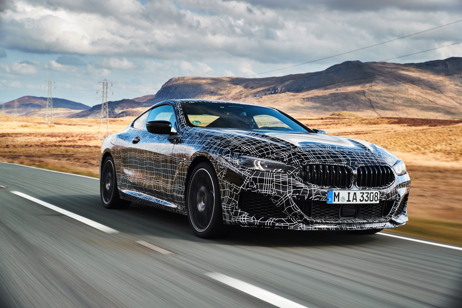 BMW M850i pre production test 02