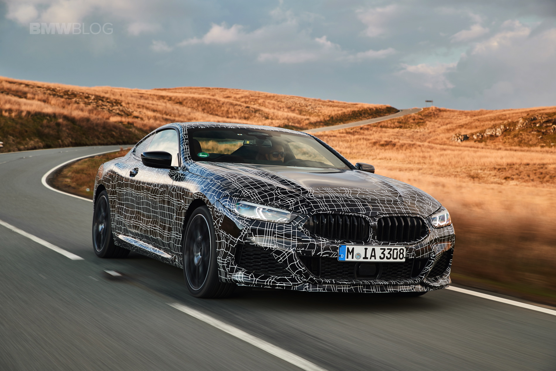 BMW M850i pre production test 19