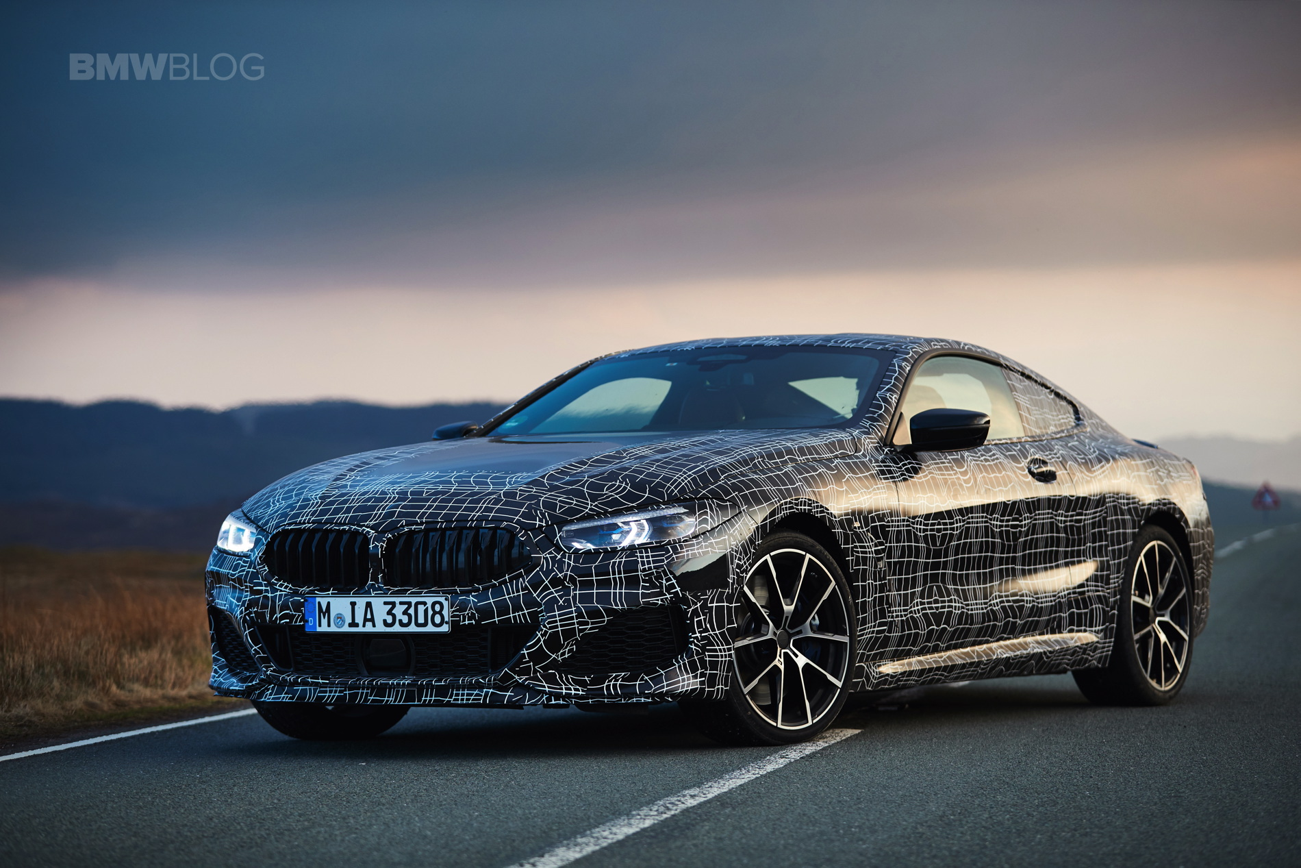 BMW M850i pre production test 26