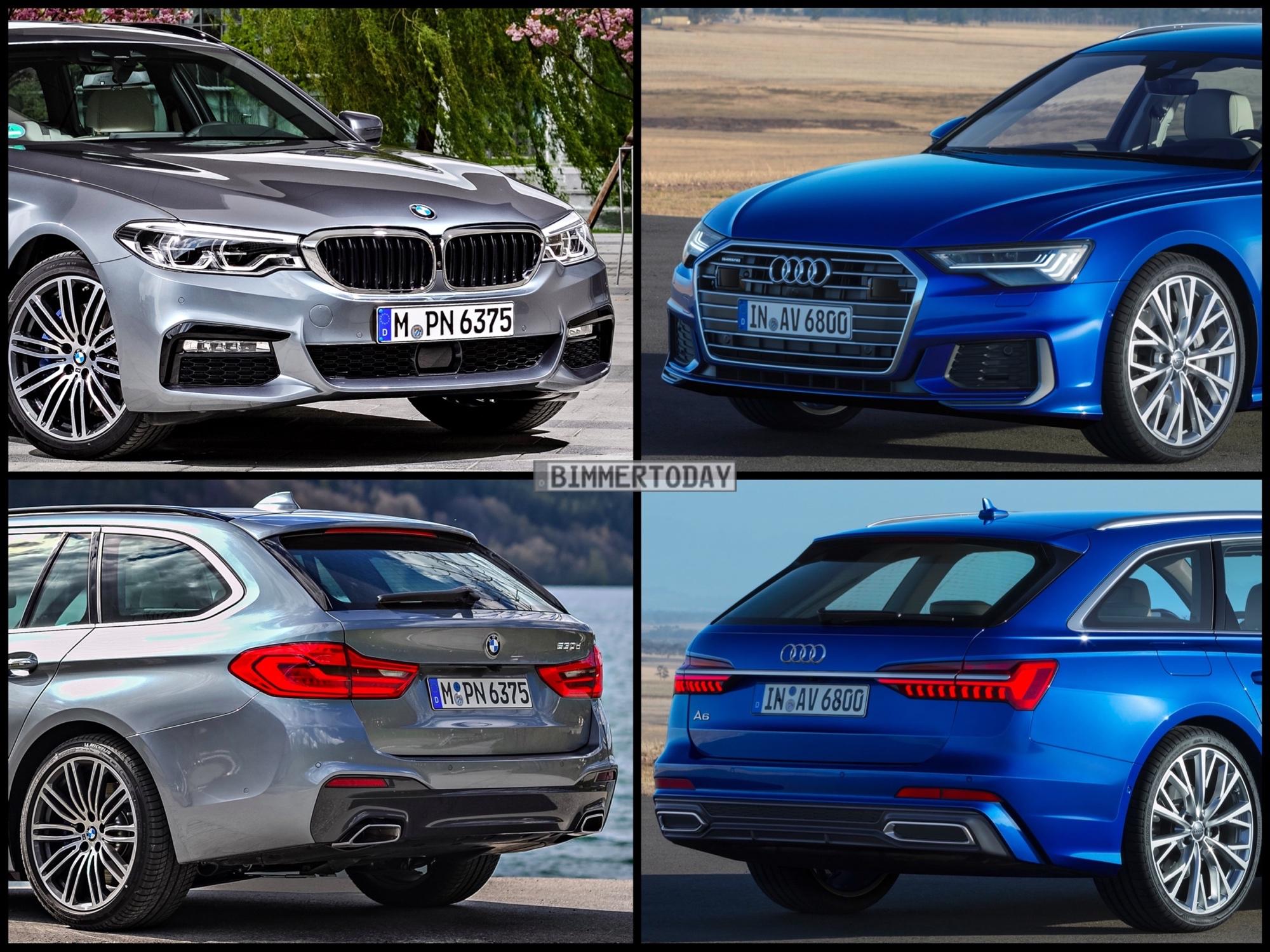 Bild Vergleich BMW 5er Touring G31 Audi A6 Avant C8 2018 01