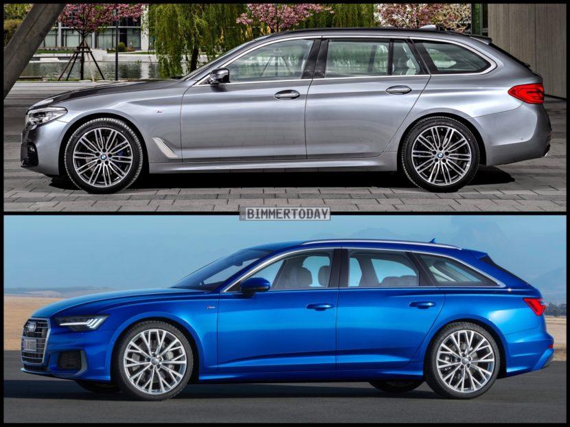 Bild Vergleich BMW 5er Touring G31 Audi A6 Avant C8 2018 04 830x622