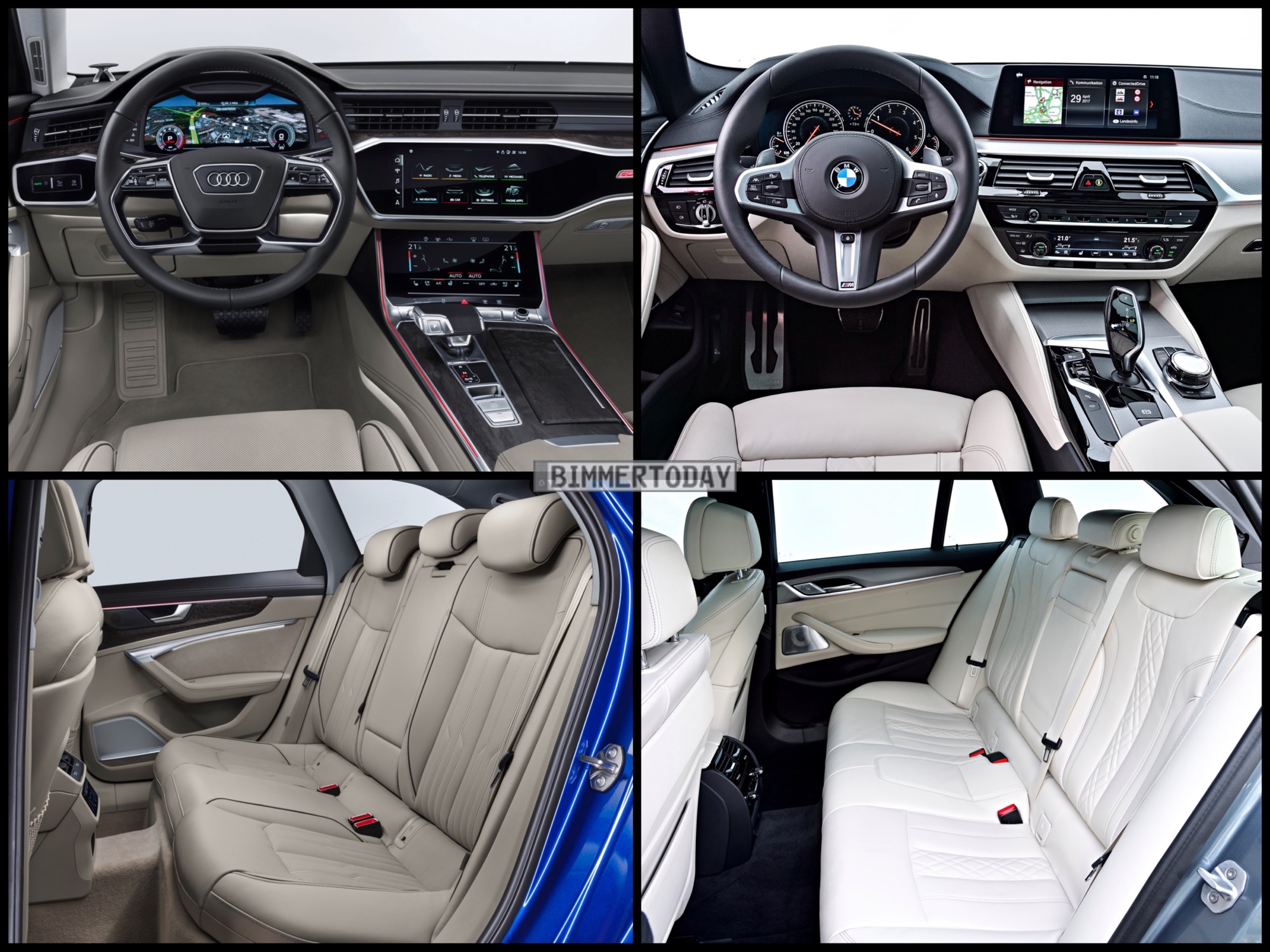 Photo Comparison Bmw 5 Series Touring Vs Audi A6 Avant And On That Really Unfair Bombshell The Wins