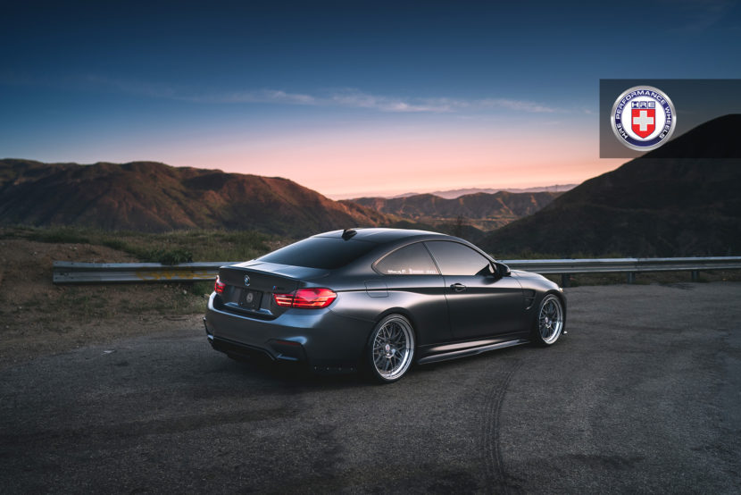 Mineral Gray BMW M4 with HRE 540 Wheels in Polished Dark Clear