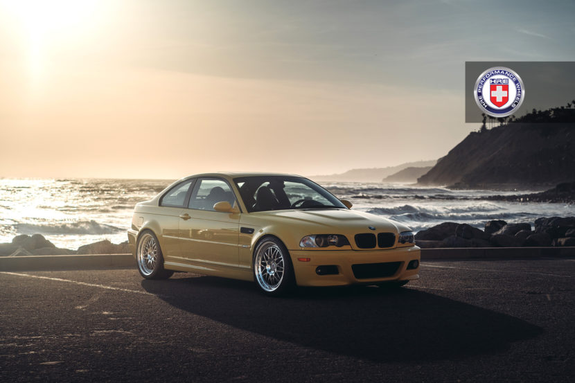 Phoenix Yellow BMW M3 with HRE 540 Wheels in Polished Clear 1 830x553