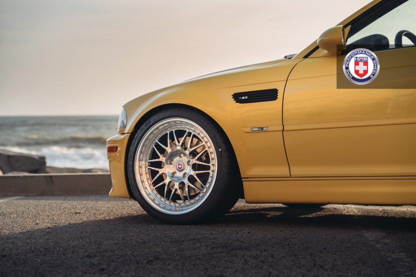 Phoenix Yellow BMW M3 with HRE 540 Wheels in Polished Clear 10 830x554