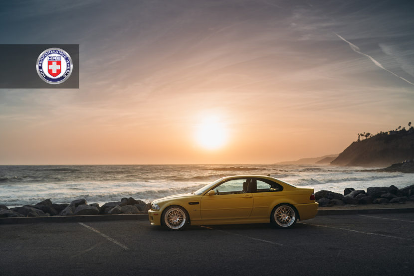 Phoenix Yellow BMW M3 with HRE 540 Wheels in Polished Clear 5 830x554