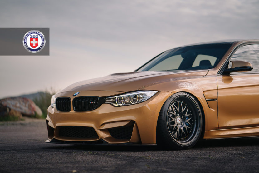 Sunburst Yellow BMW M3 with HRE 540 Wheels in Satin Black 1 830x554