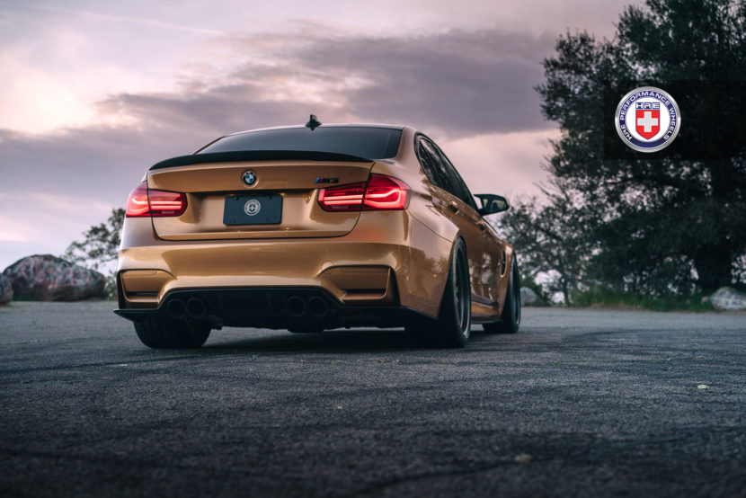 Sunburst Yellow BMW M3 with HRE 540 Wheels in Satin Black 2 830x554