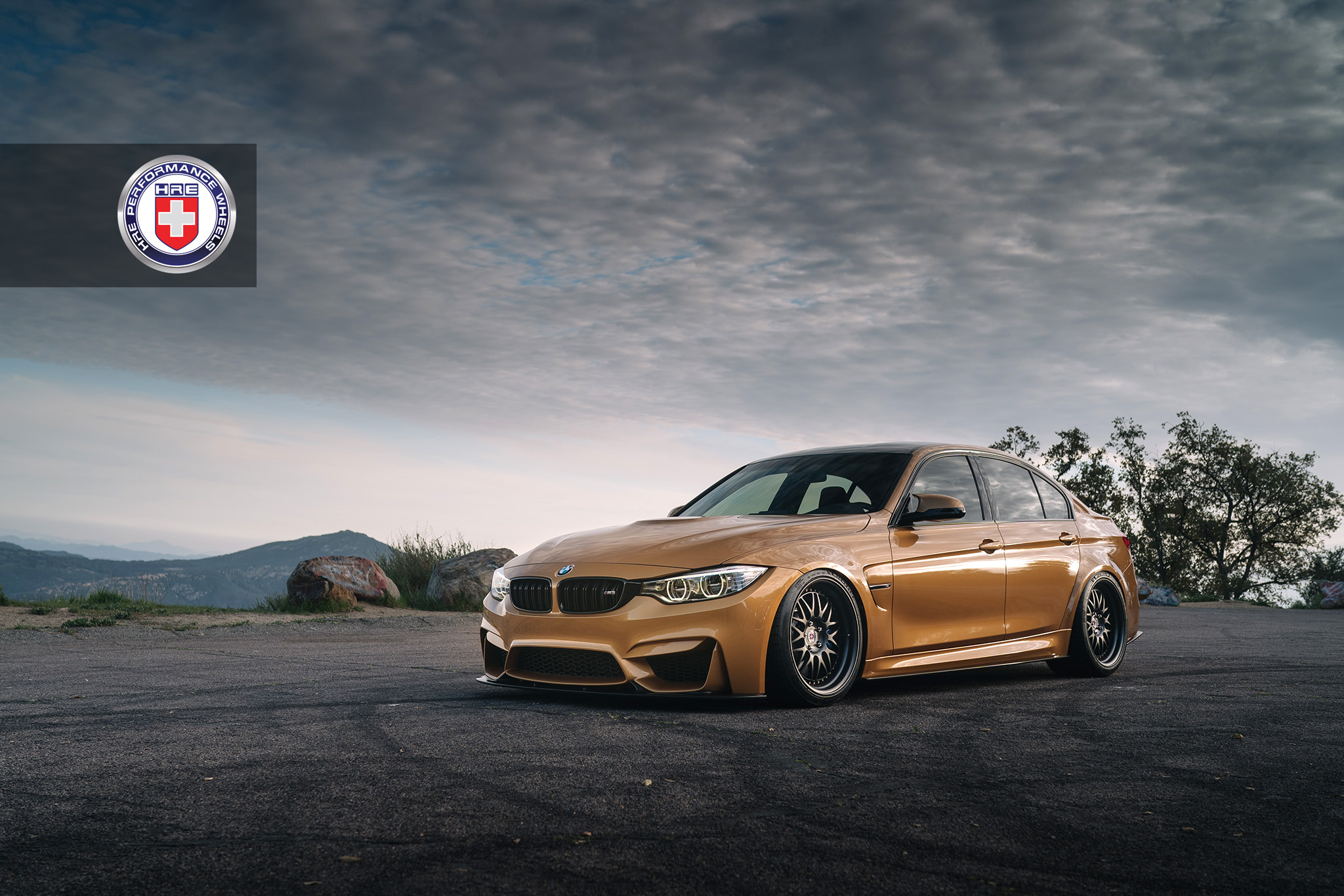 Sunburst Gold Metallic Bmw M3 With Hre 540 Wheels In Satin Black