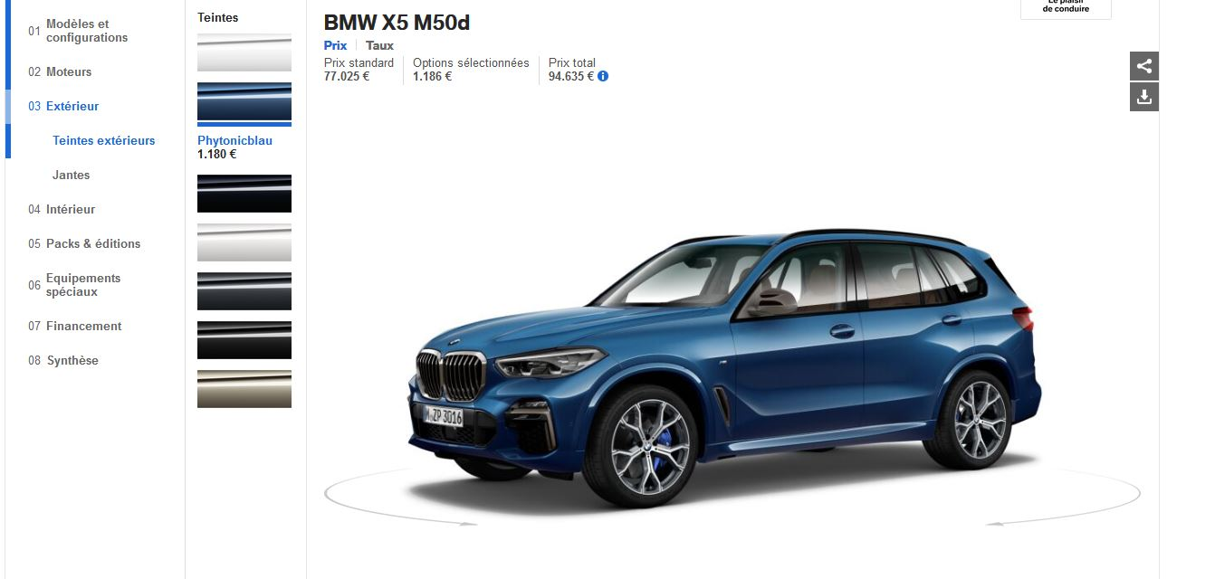 First G05 BMW X5 Configurators Go Online in Europe