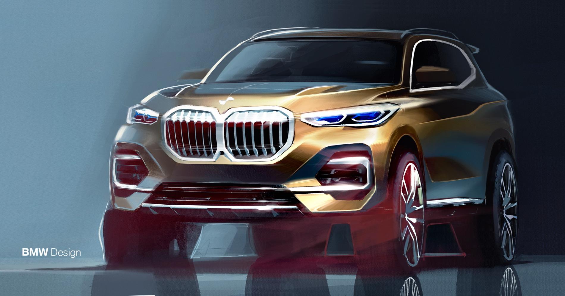 2018 BMW G05 X5 sketches 05